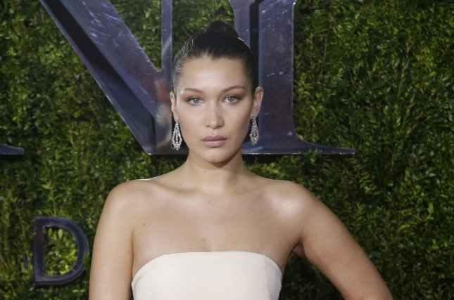 Bella Hadid at the Tony Awards on June 7. The model and mom Yolanda Foster channeled 'Baywatch' for a new photo Sunday. File photo by John Angelillo/UPI