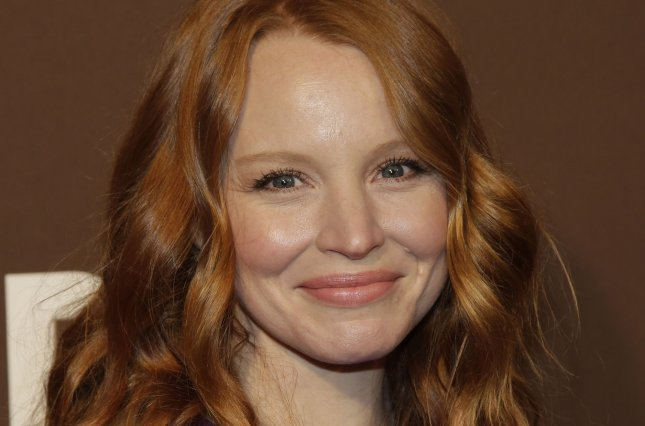 Lauren Ambrose arrives on the red carpet at USA Network's Premiere Party for New Series DIG in New York City on February 25, 2015. Ambrose will star in the lead role of Eliza Doolittle in the upcoming Broadway revival of My Fair Lady.