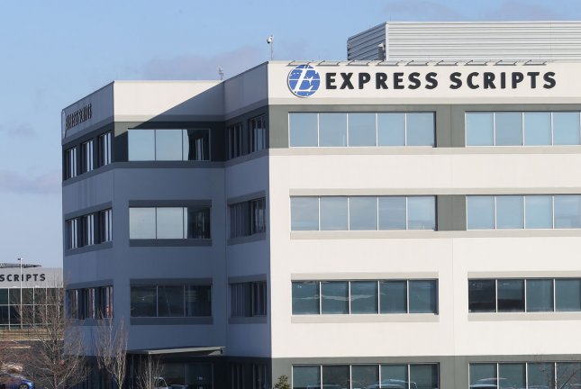 Express Scripts, the largest pharmacy benefit management organization in the United States, is pictured at its headquarters in St. Louis on Thursday. Photo by Bill Greenblatt/UPI