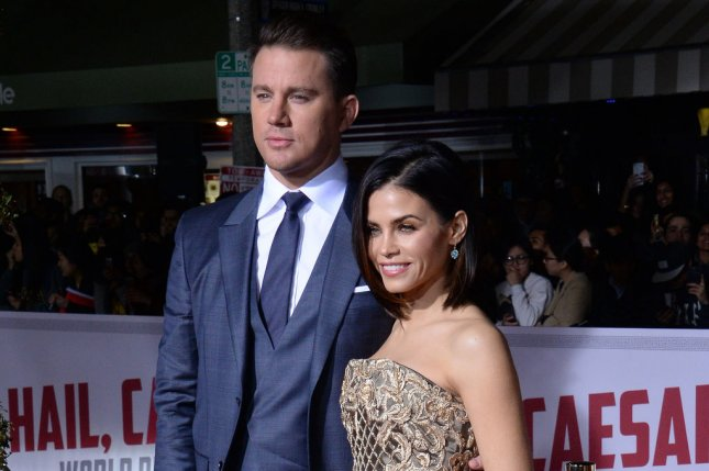 Jenna Dewan (R), pictured with Channing Tatum, gave an update Tuesday following her separation from the actor. File Photo by Jim Ruymen/UPI