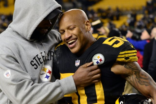 Pittsburgh Steelers inside linebacker Ryan Shazier (50) celebrates the win against the Baltimore Ravens on December 25, 2016 at Heinz Field in Pittsburgh. File photo by Archie Carpenter/UPI