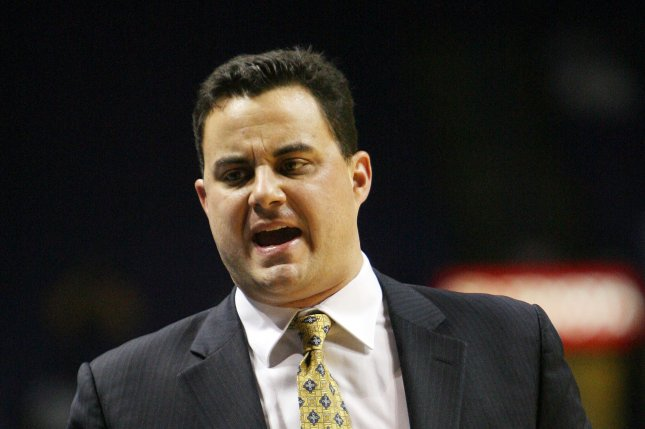 Sean Miller has been Arizona's men's basketball coach since 2009. The program is being investigated by the FBI for possible corruption. File Photo; Bill Greenblatt/UPI