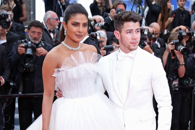 Priyanka Chopra (L), pictured with Nick Jonas, praised friend and former Suits star Meghan Markle following the actress' marriage to Prince Harry. File Photo by David Silpa/UPI
