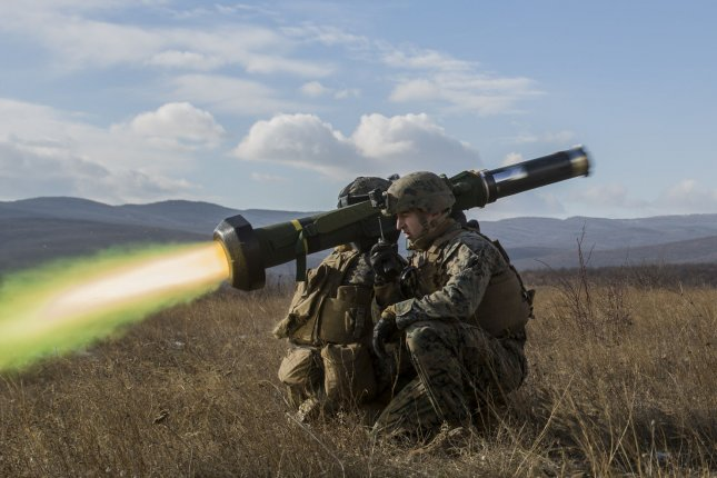 The State Department said the Javelin missile sale to Ukraine is critical to the country's security. File Photo by by Sgt. Michelle Reif/Marine Corps