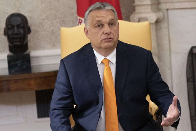 Hungarian Prime Minister Viktor Orbán said Friday a third dose of COVID-19 vaccines will be allowed starting Aug. 1. File Photo by Chris Kleponis/UPI