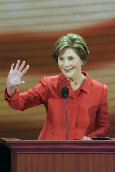 File photo of First Lady Laura Bush dated September 2, 2008. (UPI Photo/Roger L. Wollenberg)