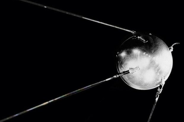 On October 4, 1957, the Soviet Union launched the first man-made space satellite, Sputnik 1, igniting the Space Race. File Photo courtesy NASA