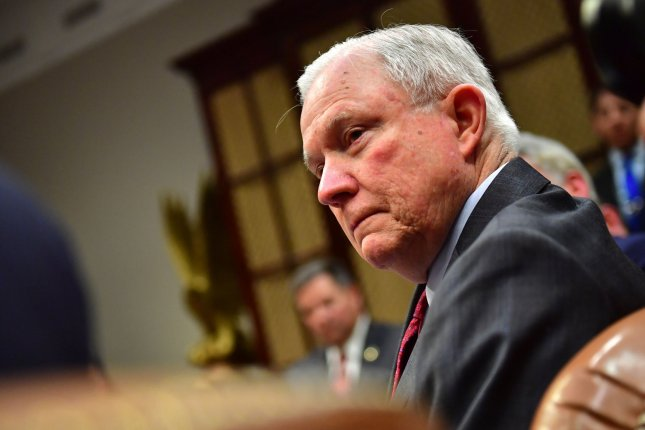 Attorney General Jeff Sessions told U.S. attorney's offices to prioritize the prosecution of immigrants crossing the U.S. border illegally. File Photo by Kevin Dietsch/UPI
