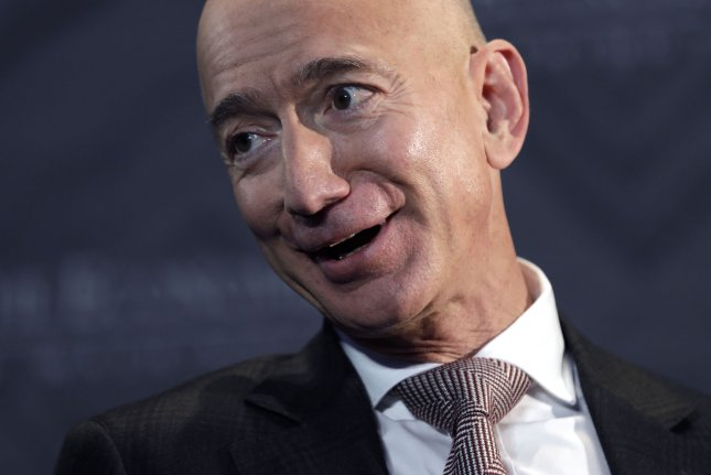 Amazon founder and CEO Jeff Bezos on Monday became the owner of the world's most valued company. File Photo by Yuri Gripas/UPI