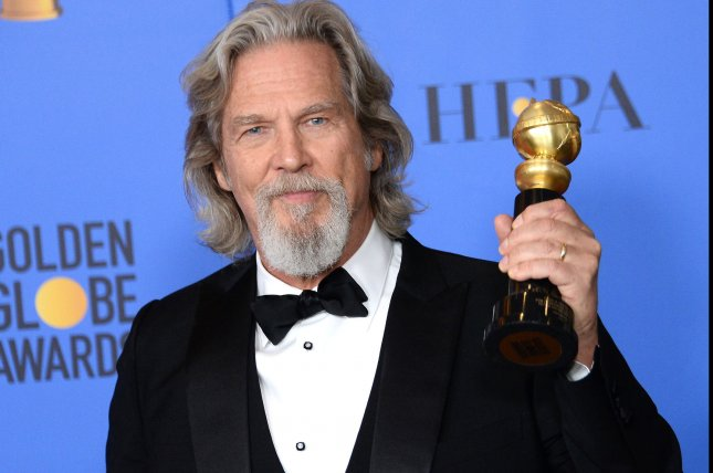 Jeff Bridges appears backstage with the Cecil B. Demille Award during the 76th annual Golden Globe Awards in Beverly Hills in 2019. He announced Monday he is battling lymphoma. File Photo by Jim Ruymen/UPI