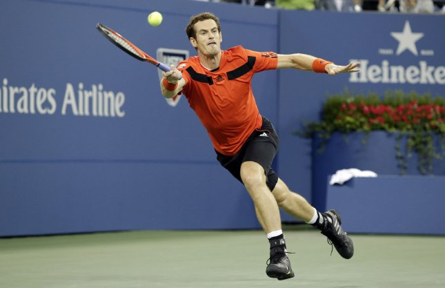 Andy Murray, shown at last year's U.S. Open, is scheduled to play three matches this weekend as Great Britain goes against the United States in a Davis Cup first-round series. UPI/John Angelillo