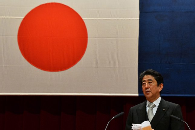 Japan's Prime Minister Shinzo Abe has called North Korea's tests a dangerous provocative act but pledged to defend Japanese lives on Tuesday. File Photo by Keizo Mori/UPI