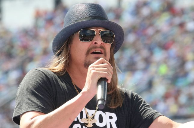 Kid Rock is set to go on tour with Brantley Gilbert and Wheeler Walker Jr. starting in August. File Photo by Ed Locke/UPI
