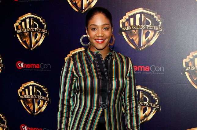 Tiffany Haddish talked about her criticized stand-up comedy show from New Year's Eve in Miami on Jimmy Kimmel Live. File Photo by James Atoa/UPI