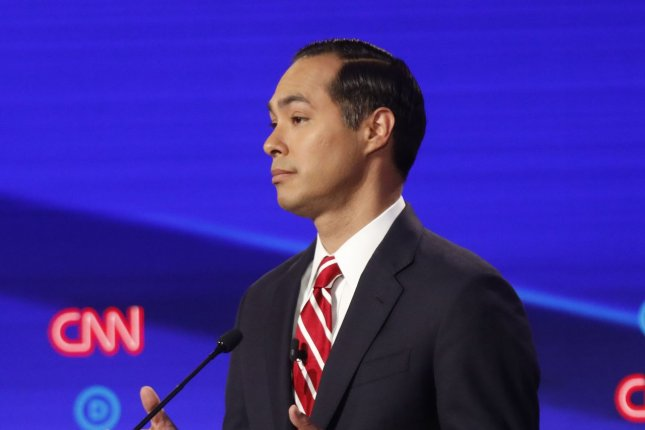 Democratic presidential candidateJuliánCastro said he has a personal interest in fighting white supremacy because his family is of Mexican heritage. Photo by John Nowak/CNN/UPI