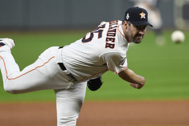 Houston Astros starter Justin Verlander won his second career Cy Young Award on Wednesday. File Photo by Trask Smith/UPI