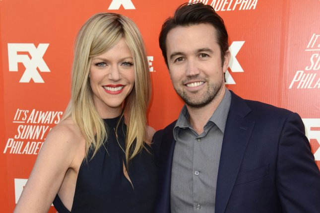 It's Always Sunny in Philadelphia stars Kaitlin Olson (L) and Rob McElhenney. FX has renewed the comedy series for Season 15. File Photo by Phil McCarten/UPI