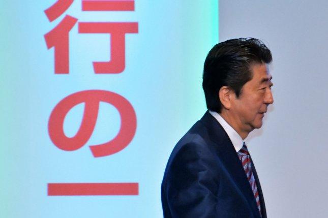 Japan's Prime Minister Shinzo Abe has sought to strengthen Tokyo's military in recent years. File Photo by Keizo Mori/UPI