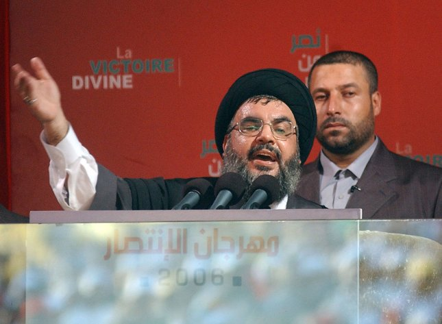 Hezbollah Leader Hassan Nasrallah in his first public appearance September 22, 2006.