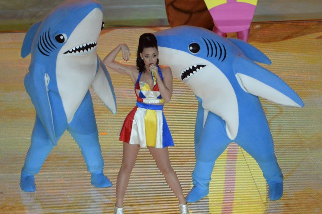 Katy Perry performs during the halftime activities of Super Bowl XLIX at University of Phoenix Stadium in Glendale, Ariz., Feb. 1, 2015. Photo by Art Foxall/UPI