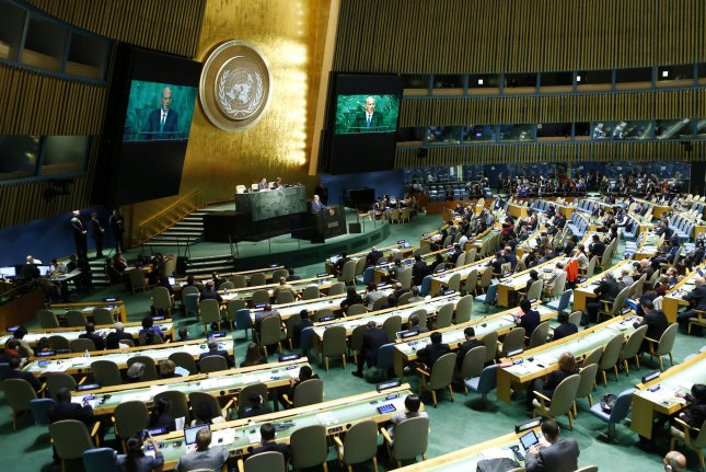The United Nations General Assembly endorsed a resolution Thursday that condemns North Korea's human rights abuses and called for the violations to be referred to the International Criminal Court. File Photo by Monika Graff/UPI