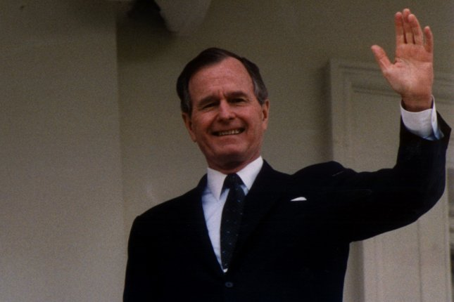 On Aug. 12, 1992, President George H.W. Bush signed the North American Free Trade Agreement (NAFTA) with Mexico and Canada, creating the world's largest free trade bloc. UPI File Photo
