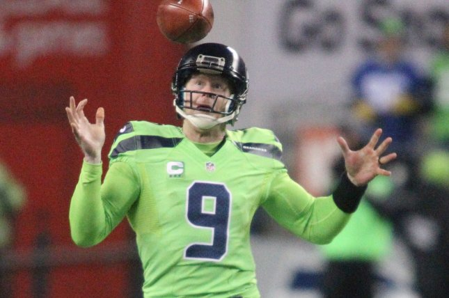 Former Seattle Seahawks punter Jon Ryan is going to the CFL. Ryan last played with the Seahawks in 2017. File Photo by Jim Bryant/UPI