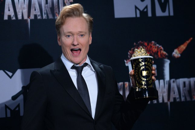Conan O'Brien will interview Paul Rudd, Ellen DeGeneres, David Letterman and Tina Fey in Season 2 of his weekly podcast. File Photo by Jim Ruymen/UPI