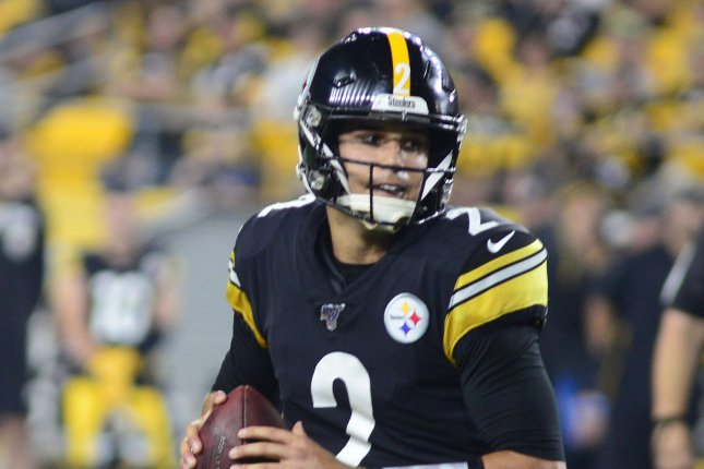 Pittsburgh Steelers quarterback Mason Rudolph sustained a concussion against the Baltimore Ravens last week. File Photo by Archie Carpenter/UPI