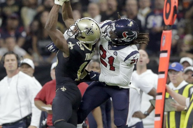 Houston Texans cornerback Bradley Roby (21) had two interceptions, eight passes defensed, one sack and a forced fumble last season. File Photo by AJ Sisco/UPI