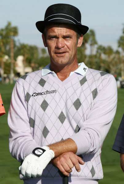 Jesper Parnevik, shown prior to a tournament in January, underwent hip surgery and will miss the rest of the 2009 PGA Tour schedule. (UPI Photo/ David Silpa)
