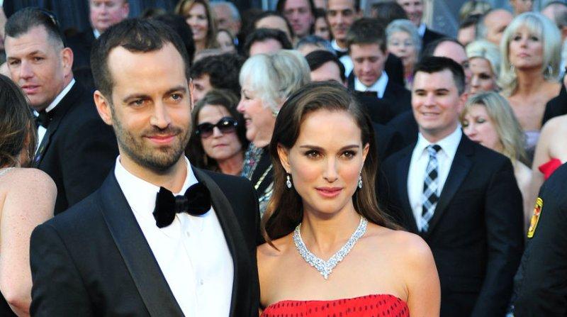 Natalie Portman and her husband Benjamin Millepied on Feb. 26. UPI/Kevin Dietsch