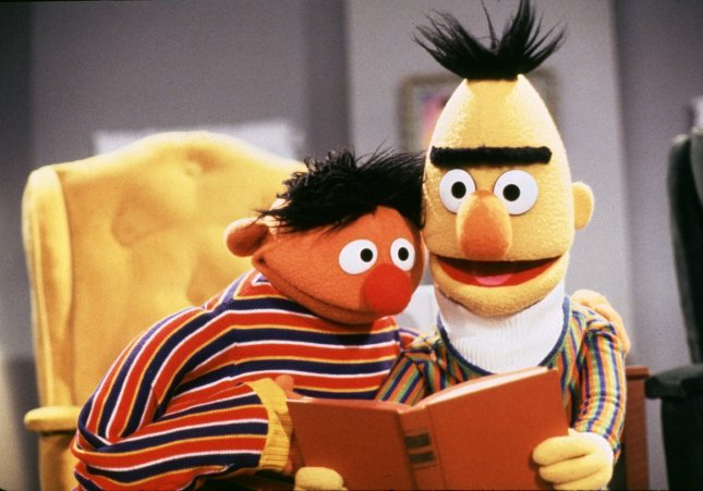 Bert and Ernie (pictured in an undated file photo), the original Jim Hensen puppets (UPI Photo Files)