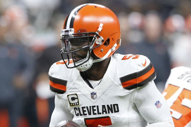Former Cleveland Browns quarterback Tyrod Taylor could end up with the Miami Dolphins after the team moves on from Ryan Tannehill this offseason. File Photo by AJ Sisco/UPI
