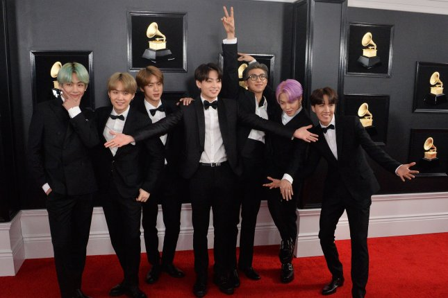 BTS shared an ARMY with Luv version of its Boy with Luv video featuring Halsey. File Photo by Jim Ruymen/UPI