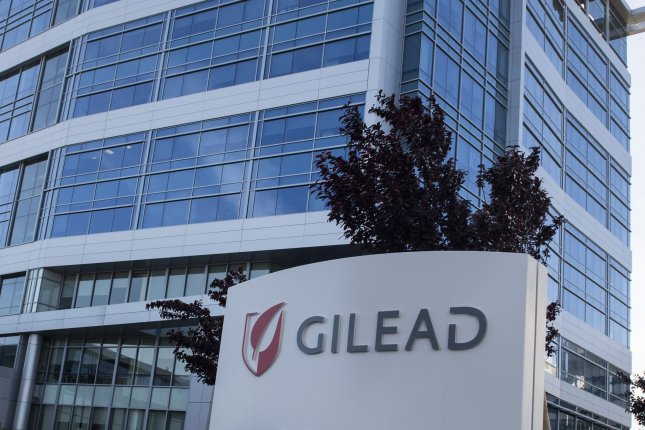 The Gilead campus in Foster City, Calif., is seen on April 23. The company said Friday it is disappointed with the conclusion of the World Health Organization. File Photo by Terry Schmitt/UPI