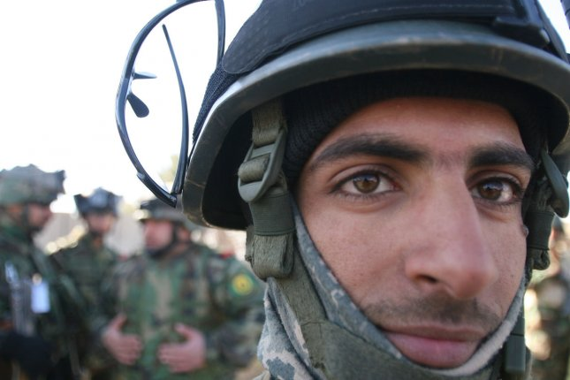 An Iraqi soldier in Baghdad on January 1, 2009. (UPI photo/Ali Jasim)