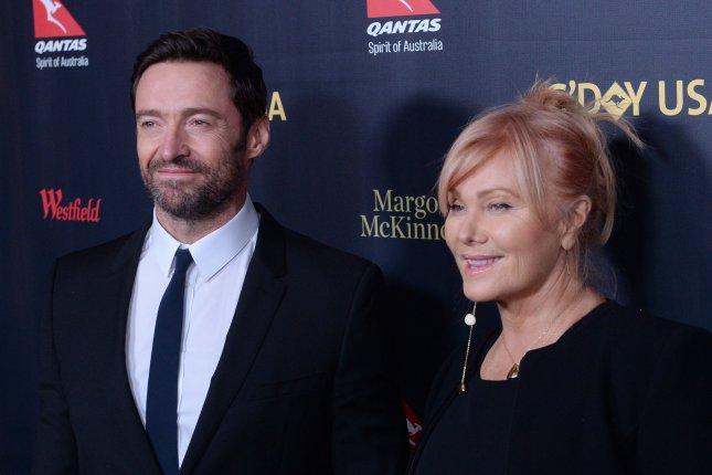 Hugh Jackman (L) and Deborra-Lee Furness at the G'Day USA gala on January 28. The actor plays Logan, aka Wolverine, in the Marvel cinematic universe. File Photo by Jim Ruymen/UPI