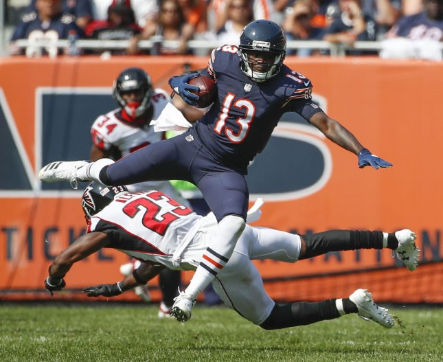 Kendall Wright and the Chicago Bears face the Pittsburgh Steelers on Sunday. Photo by Kamil Krzaczynski/UPI
