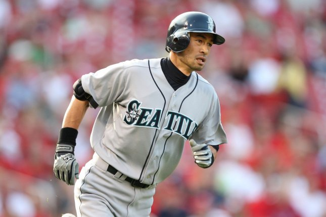 Seattle Mariners outfielder Ichiro Suzuki will be in the starting lineup Wednesday when the Mariners and A's take the field in the opener in Japan at the Tokyo Dome. The teams will play a two-game set to kick off the 2019 MLB season. File Photo by UPI/Bill Greenblatt