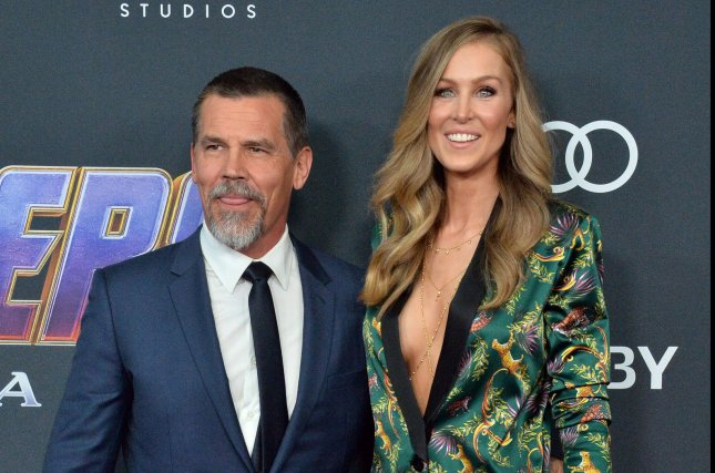 Josh Brolin, pictured with Kathryn Boyd, discussed working with Javier Bardem, Jason Momoa and Denis Villeneueve on Dune. File Photo by Jim Ruymen/UPI