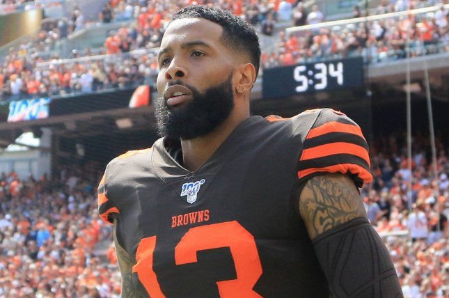 Cleveland Browns wide receiver Odell Beckham Jr. has been fined multiple times this season for uniform violations.  Photo by Aaron Josefczyk/UPI
