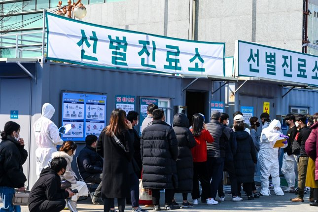 South Korea's confirmed cases of COVID-19 rose to 2,377 on Friday as the country takes measures to contain the outbreak with economic stimulus and increased testing. Photo by Thomas Maresca/UPI