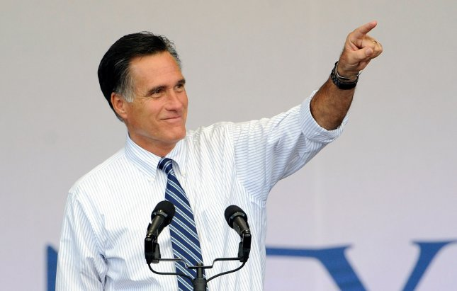 Republican presidential nominee Mitt Romney in Henderson, Nev., Oct. 23, 2012. UPI/David Becker
