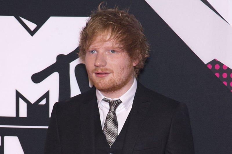Ed Sheeran at the MTV Europe Music Awards on October 25, 2015. File Photo by David Silpa/UPI