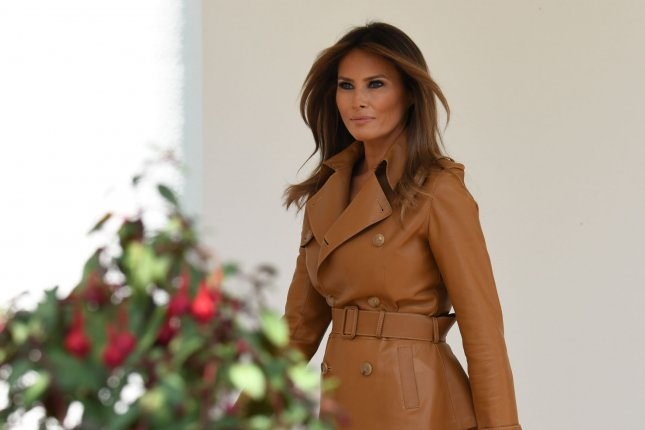 First lady Melania Trump wanted to attend the G7 summit in Canada, but was advised against flying due to her recent operation, President Donald Trump said. File photo by Pat Benic/UPI