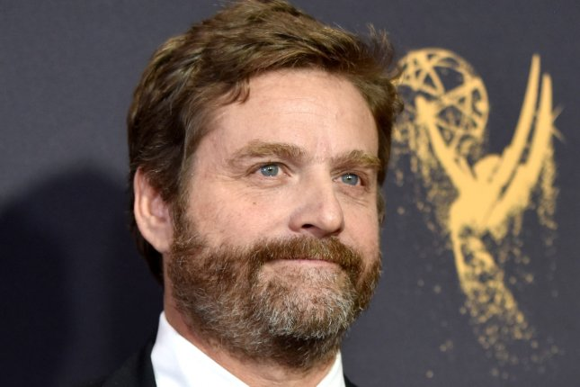 Netflix released three new photos of Zach Galifianakis in Between Two Ferns: The Movie. Here, Galifianakis arrives for the 69th annual Primetime Emmy Awards in Los Angeles on September 17, 2017. File Photo by Christine Chew/UPI