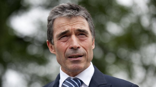 NATO Secretary-General Anders Fogh Rasmussen dismissed Russia's complaints about a missile defense shield. UPI/Kevin Dietsch