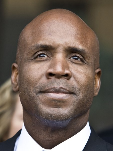 Home run king Barry Bonds faces the media at the Federal Building in San Francisco on April 13, 2011 A jury convicted Bonds on obstruction of justice charges but hung on the perjury charges . UPI/Terry Schmitt