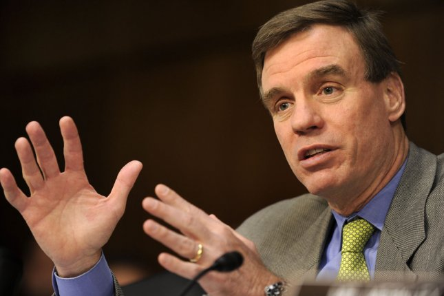 U.S. Sen. Mark Warner appears to be in good shape in his bid for a second term with a 9-point lead over his Republican challenger, a poll released Thursday said. UPI Photo/Mike Theiler